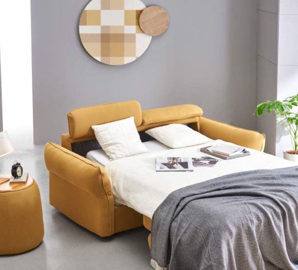 sofá cama-amarillo